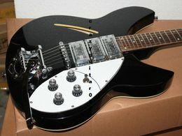 Wholesale Cheap Pickups Guitar - High Quality Newest Black 3 Pickups Custom Shop RICK Electric Guitar OEM Cheap