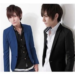 Wholesale Men S Suit Jacket Wholesale - Wholesale- Men Suit - Hot Sale Men 's Small Suit Jacket Korean Slim Men' S Suits #1871576