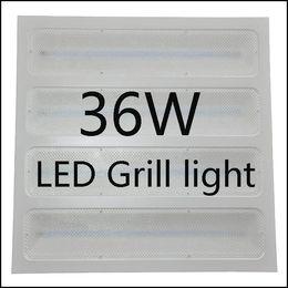 Panel de rejilla de luz online-36W 600 * 600 LED Grill Panel luz / Lámpara / Lite / Licht-Recessed Ceiling Grid Panel lámpara para uso de oficina LED rejilla lámpara de techo New Model LE