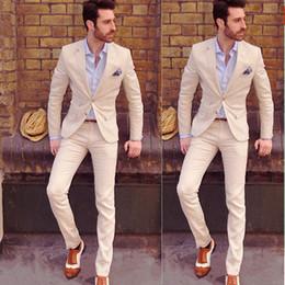 Wholesale Mens Grey Skinny Suit - Hot Mens Slim Fit Wedding Suits Groom Tuxedos Groomsmen Formal Suit Jacket+Pants