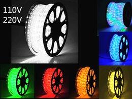 Cordes lumineuses en cristal menées en Ligne-100m 2 fils ronds LED Corde LED Crystal Clear Tube PVC IP65 Résistant À L'eau Flexible Fête De Noël Décoration Décoration