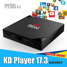Wholesale Internet Tv Google - Android 6.0 TV Internet Box M9S 4K 1GB 8GB 4K HDR H.265 HEVC 3D Movies playback KD Player 17.3 installed RK3229 Stream TV Box