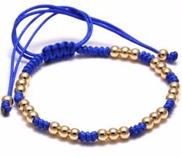 Wholesale Titanium Rope Bracelet Black - Beichong Man Macrame New Bracelet Men Titanium Steel Beads Charm Rope Braiding Macrame Bracelets Female pulseira feminina