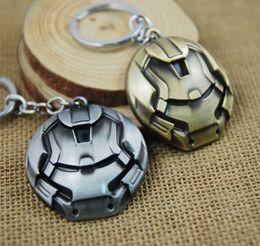 Wholesale Iron Man Movie Helmet - Hot Movie The Avengers Iron Man Key Chain Iron Man Helmet Mask Metal Pendant Keychain Superhero Jewelry Gift