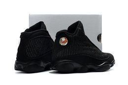 Wholesale Kid Leather Price - Retro 13s Basketball shoes for kids black cats children's sneaker big boy and girl Retro 13 wholesale prices SIZE 28-35