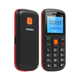 Wholesale Old English - Uniwa V708 Big SOS Button Charging Cradle mobile phone Old Man Cellphones FM RADIO Dual SIM cheaper phone