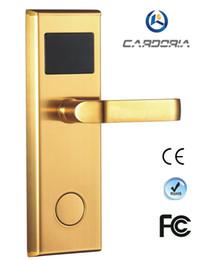 Wholesale Rfid Hotel Locks - CARDORIA 100RF High Quality Wholesaler Price Digital RFID Card Hotel Door Lock With Software CE Certificated