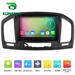 Wholesale Dvd Player Car Opel - Quad Core 1024*800 Android 4.4.4 Car DVD GPS Navigation Player Car Stereo for Opel Vauxhall Insignia 08-13 Radio 3G Wifi Bluetooth KF-V2432Q