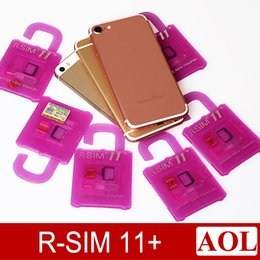 Wholesale Iphone 5s Ios7 - Original R-SIM11+ perfect unlock For IOS10 -IOS7 Rsim 11 plus Rsim 11+ Unlock Card support iphone 7 7p 6plus 6s 5s LTE 4G 3G Sprint AT&T