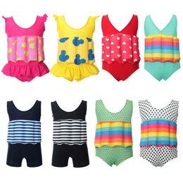 Wholesale Swimwear Boy Children - Multicolor Boys Girls Swim Training Swimwear bikini Kids Buoyancy swimsuit With Adjustable Buoyancy blocks for children 2-7T