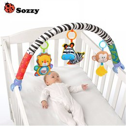 Wholesale Baby Travel Prams - Wholesale- 0-12M Baby Crib Toy Stroller Rattles Seat Take Along Travel Arch Toys for Pram