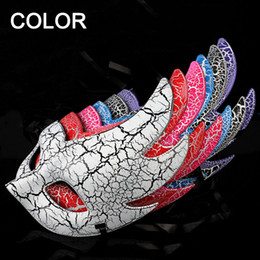 Wholesale Silver Purple Masquerade Mask - Beauty Face Venetian Mask Fashion Women Cosplay Half Face Masquerade Ball Masks Halloween Venetian Painted Party Christmas Gift