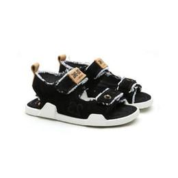 Wholesale Girls Ankle Shoes - 2018 The new summer children magic beach shoes sandals Girls Boys Denim fashion tide Hugh