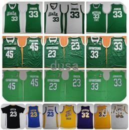 Wholesale Yellow Michigan Basketball Jersey - Michigan State Spartans College Basketball Jersey 33 Earvin Magic Johnson 45 Denzel Valentine 23 Draymond Green Shirts Cheap Stitched Jersey