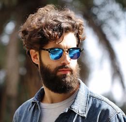 Wholesale Master Designers - WHO CUTIE Hot Square RAYS Sunglasses Men Women BANS Half Frame Brand Designer Inspired Hot Retro Classic Club Master Sun Glasses Shades OM39