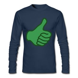 Wholesale Thumb Print - Casual Clothing Shirt Thumbs-Up Painting Picture On Breathable Man Shirt Pure Cotton Comfortable Soft Free Shirt