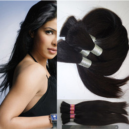 Wholesale Human Hair Extensions For Braids - Human hair extension straight 100g 1pcs no weft human hair bulk for braiding 28 inch - 40inch