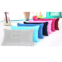Wholesale Colorful Pillows - Wholesale- 1XComfortable Double Sided +Inflatable Pillow Mat Cushion For Sleep Picnic Travel Colorful
