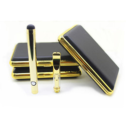 Wholesale Classic Oil - Best quality wax oil vaporizer mini vape pen gold color bud touch battery classic empty cartridge for thick oil DHL free shipping