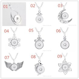 slide snap button Coupons - NOOSA Water Drop Pendant Charm Necklace 18mm Noosa Chunks Ginger Snap Button Necklaces For Women Snap Jewelry NAB0038