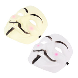 Wholesale Vendetta Masks For Sale - Wholesale-New V for Vendetta Anonymous Movie Adult Men Mask Halloween Costume Cool Worldwide sale