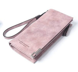 Wholesale Polish Holder - High Capacity Fashion Women Wallets Long Dull Polish Retro PU Leather Wallet Clutch Coin Purse Ladies