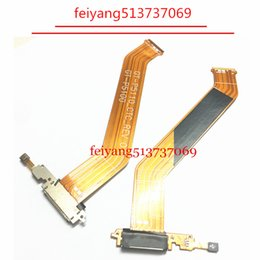 Wholesale Tab Usb Port - 10pcs OEM For samsung GALAXY Tab 2 P5100 Tab 3 10.1 P5200 P5210 Dock Connector Charger USB Charging Port Flex Cable