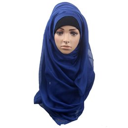 Wholesale Red Muffler - Wholesale-Newly Design Fashion Muslim Women Shawl Scarf Long Head Cover Headscarf Muffler Sep1