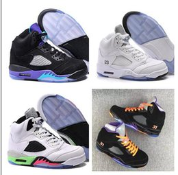Wholesale Trainers Best Quality - Retro 5 White Cheap Best Basketball Shoe Mens Brand New Retro 5s Sneakers High Quality Men Sports Outdoors Trainers free shipping