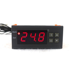 Wholesale Heating Regulator - Wholesale- Digital Temperature Controller 90-250V 10A 220V Thermostat Regulator with Sensor -50~110C Heating Cooling Control