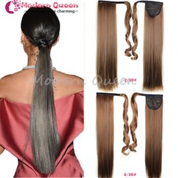 """Wholesale Ponytail Fake - 22""""Drawstring Ombre Ponytail False Hair Tail Hairpiece Ponytail Synthetic Tress of Hair Apply Long Straight Fake Ponytail Hair Ponytails"""