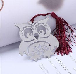 2019 decorações chinesas do bolo de casamento 100 pcs 2017 Criativo Bonito O Metal Coruja bookmarks com borla para o Casamento Favor Festivo Fontes Do Partido de casamento melhor presente