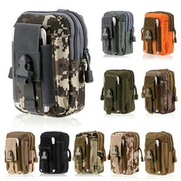 Wholesale Molle Waist - Tactical Waist Belt Pouch Molle Holster Army Camo Bag Outdoor camouflage nylon case for iphone 7 mens wallet bag fashion