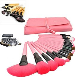 Wholesale Makeup Brushes 32 Set Pro - Ladies Pro Makeup Brush Eyebrow Shadow Cosmetic Set Kit +Pouch Bag 32 24 PCS New #R487