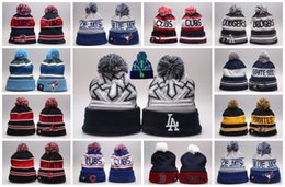 Wholesale Boston Beanie - Baseball Beanies White Sox Los Angeles Dodgers Chicago Cubs Toronto Blue Jays New York Yankees Pittsburgh Pirates Boston Red Sox