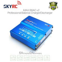 2019 chargeurs de batterie modèle Original SKYRC iMAX B6AC V2 6A Lipo Batterie Balance Chargeur LCD Écran Déchargeur Pour RC Modèle Batterie Charge Re-peak Mode Hot Vendre Nouveau chargeurs de batterie modèle pas cher