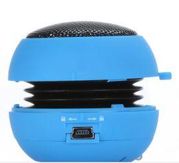 Wholesale Mini Speaker For Pc Laptop - Quality Portable pocket Mini Hamburger Speaker for iPhone iPad iPod Laptop PC MP3 Audio Amplifier V507B