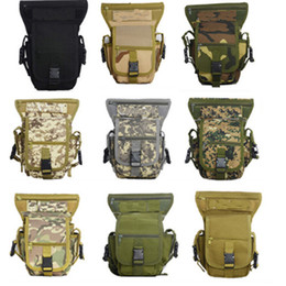 Wholesale Camo Legging Wholesale - Men Multi-purpose Leg Bag Racing Drop Motorcycle Outdoor Bike Cycling Thigh Tactical Bag Camo Riding Thermite Versipack