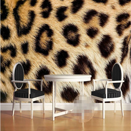 Wholesale Wallpaper Photography Backgrounds - Wholesale-Mural Wallpapers Home Decor Photo Background Wall Paper Photography Leopard Texture Animal Hotel Bathroom Large Wall Mural