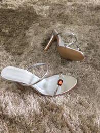 Wholesale Gladiator Spike Heels - HOT! Big Size 2017 Designer Gladiator High Heels Women Shoes Nude Black Spikes T-strap Pump Patent Leather Stud Lady Shoes Summer