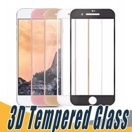 Wholesale New Iphone Glass Screen - For iPhone 6 6s iphone 7 Plus New Selling 9H Soft Edge 3D Curved Full Cover Tempered Glass Screen Protector with retail box