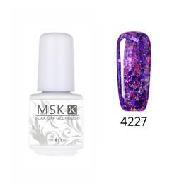 Wholesale Diamond Glitter Nail Art - Wholesale- MSK Gel polish 50 color Diamond Glitter Soak off UV Led Gel Nail Polish Nail art 5ml 4227