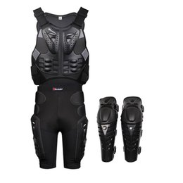 Wholesale Elbow Armor - HEROBIKER Motorcycle Armor Motocross Armour Motorcycle Jackets+ Gears Short Pants+protective Motocycle Knee Pad 3pcs 1set