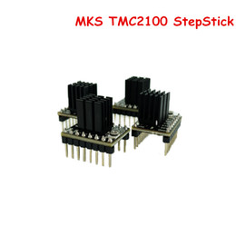 Wholesale Module Driver Motor - Freeshipping 4 Pcs Lot MKS TMC2100 StepStick Stepper Motor Driver Module Board ultra-silent Controller Superior Protection