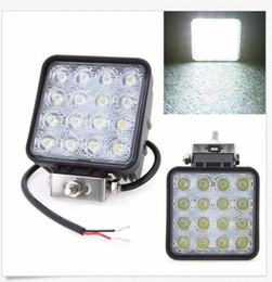 Wholesale Waterproof Led Lights For Atv - wholesale 4 Inch 12V 24V 3200LM 48W Waterproof Square LED Car Work Light for Motorcycle Tractor Boat Offroad SUV ATV CEC
