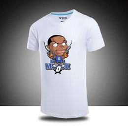 Wholesale Yellow Top Cartoon - 100% Cotton T shirts Men Shorts Sleeve Tops Tees Brand Kevin Durant KD Basketball Casual Cartoon Q Print Tshirts Plus size 3XL