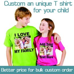 Wholesale Tshirt Logos Wholesale - Custom Printed Personalized Girls T-Shirts designer logo Boys t shirt Advertising white tshirt short-sleeve Cotton blank tees