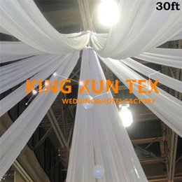 Wholesale Ceiling Wedding - Good Quality Roof Ceiling Panel Backdrop \ Canopy Drapery Curtain For Wedding Or Party Decoration OFree Shipping