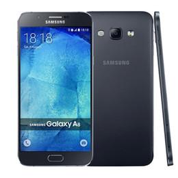Wholesale Dual Camera A8 - Original Refurbished Samsung Galaxy A8 A8000 Dual SIM 5.7 inch Octa Core 2GB RAM 16GB ROM 16MP Camera 4G LTE Unlocked Mobile Cellphone 5pcs