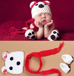 Wholesale Wholesale Snapback Hat Sets - New style Handmade Crochet Baby Fox hat and shorts Newborn photography props cap Children Costume Set Snapback caps